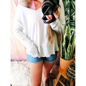 Marled gray light weight slouchy long sleeve 🌻